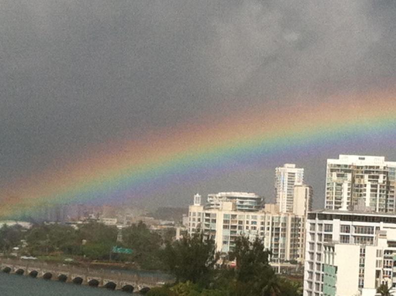 Unbelievable rainbow taken from bedroom window.