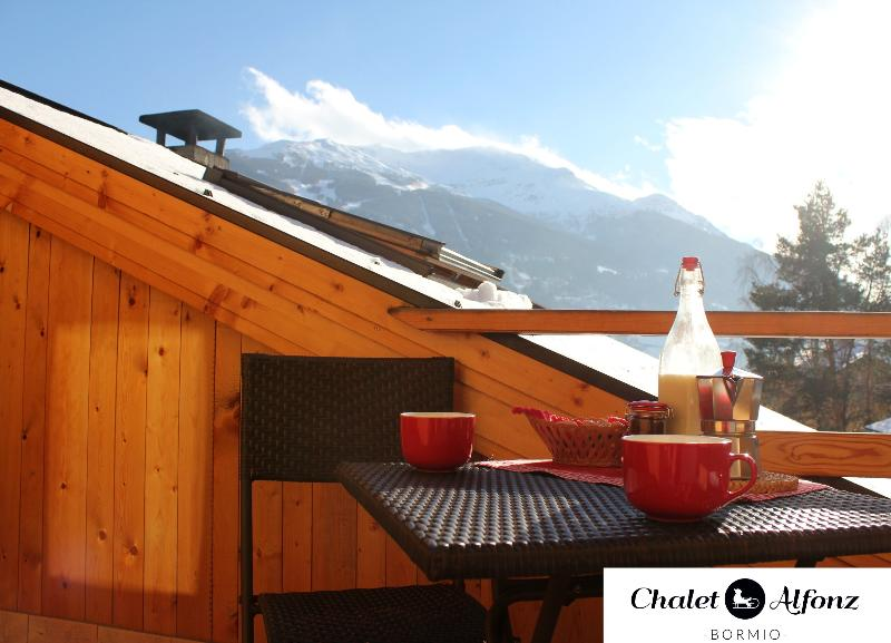 Chalet Alfonz | MANSARDA: vista dal balcone, view from the Balcony