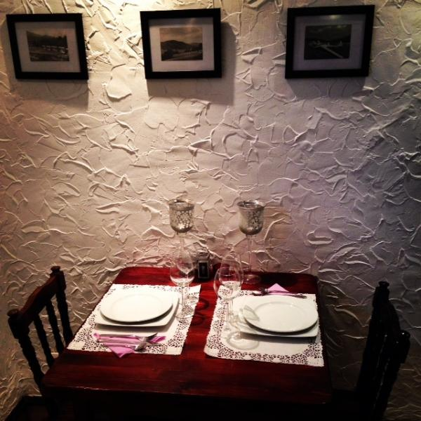 Nice and cosy dinner room for 25 persons at the Villa Chamonix, perfect for summer holidays
