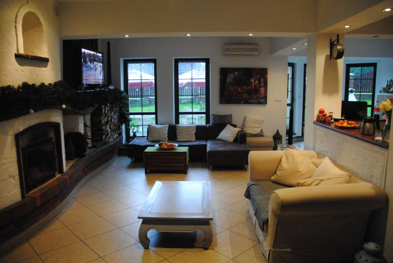Cosy atmosphere in the sitting room with all the comfort you can expect for your holidays in Poland.