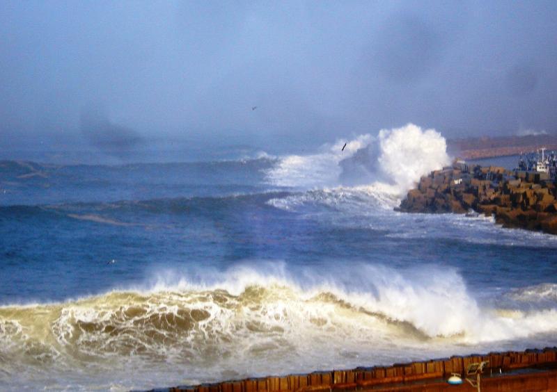 Vue de la terrasse: jour de tempête