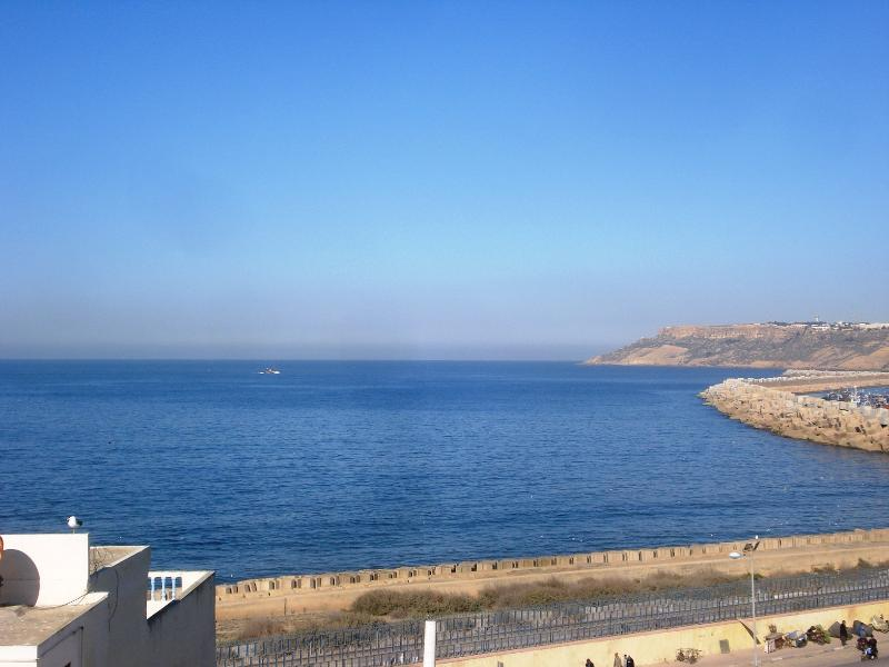 The sea view from the terrace