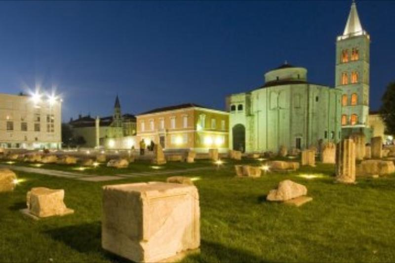 city of Zadar, the church of st.Donat, only 12 km.