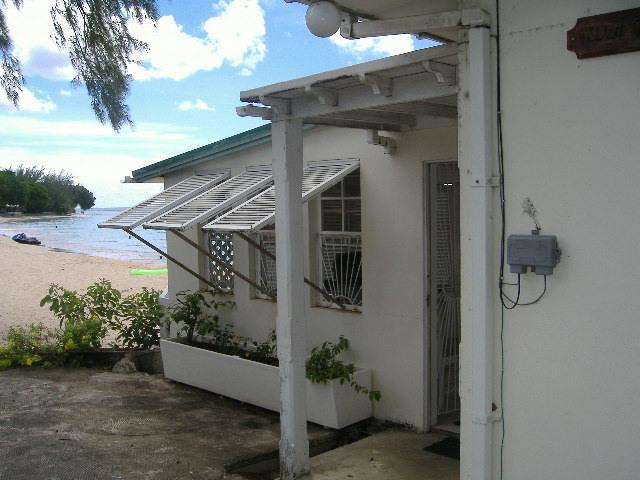 The entrance porch