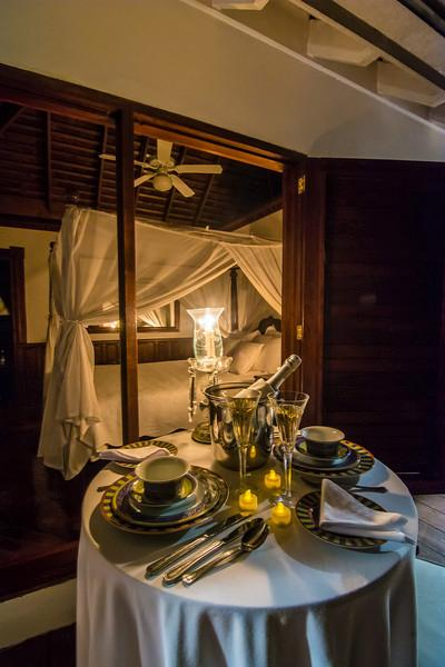 Room Service is available to Treetops and to all bedrooms.