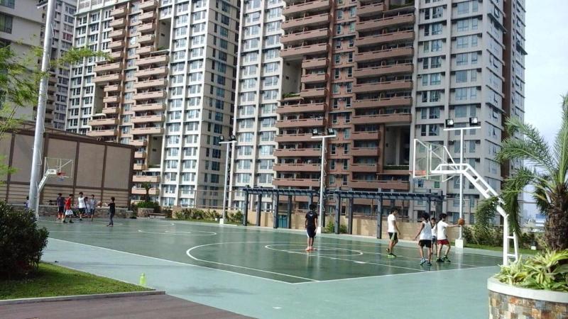 Basketbalveld op het dek Skyview