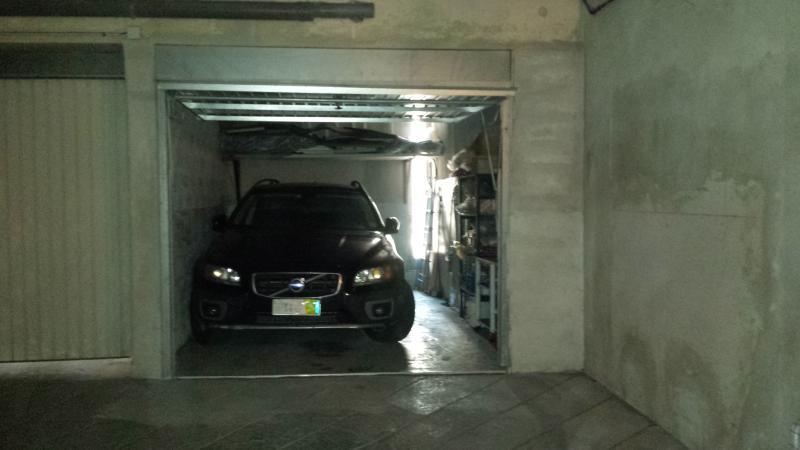 Large garage.