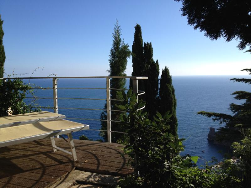 Overlooking Fornillo Beach from the deck