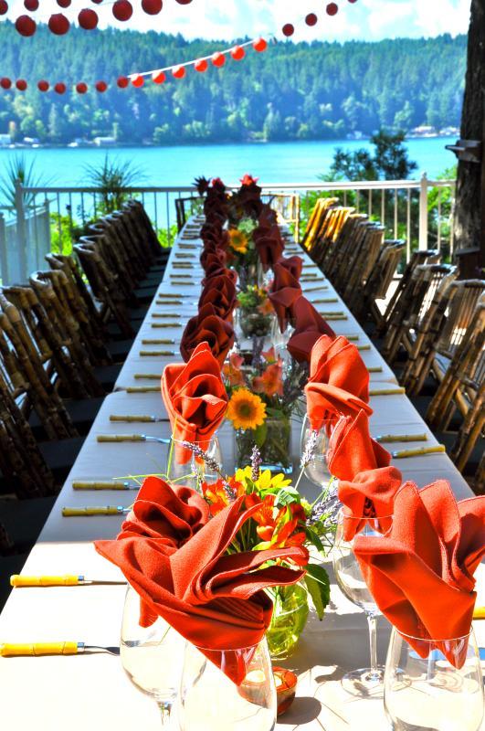 Zomer bruiloft tabel
