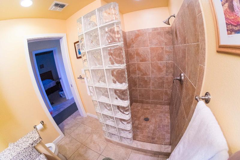 Second bathroom walk-in shower.