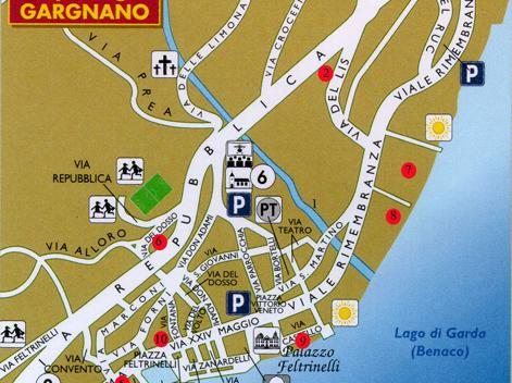 Gargnano City Map // Gargnano Stadtplan