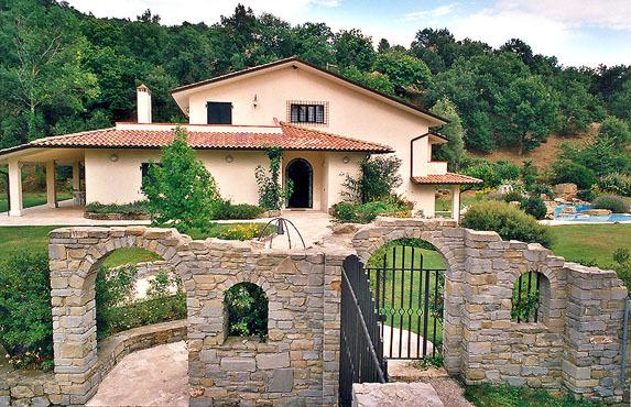 Side elevation with front entrance to wonderful gated property, extremely large, with superb grounds