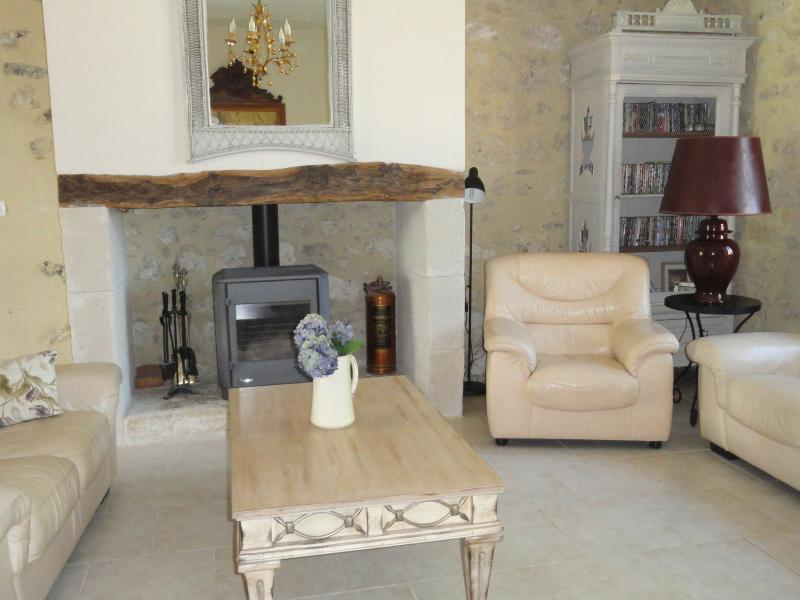 The family room with french doors to terrace, Sky TV. WiFi, and music centre and lots of CDs
