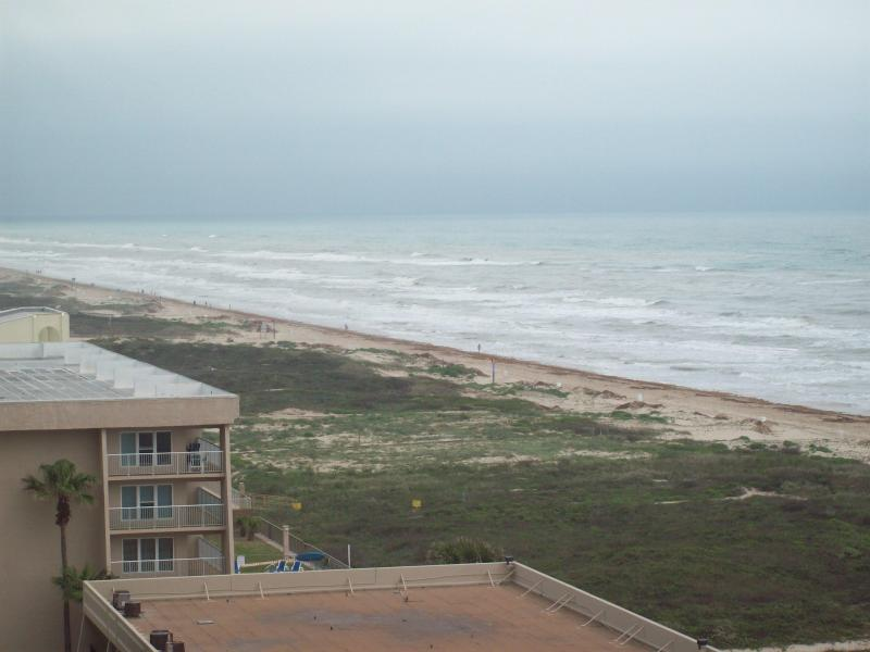 North view of the beach from balcony