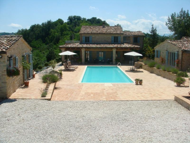 Left to Right Casa Ciliegia (L), Owners House (centre), Casa Cappella (R)