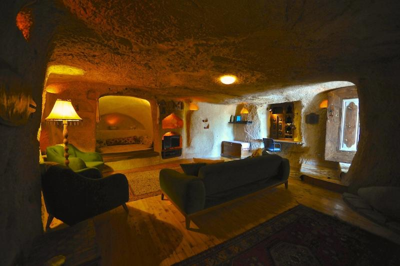 Cave Living Room with 1 Sofa Bed and a Mini Cave Room