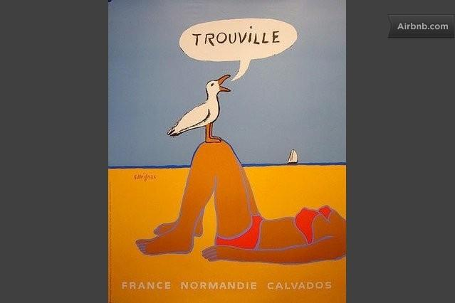 Affiche reconnue, crée par Savignac de Trouville sur mer