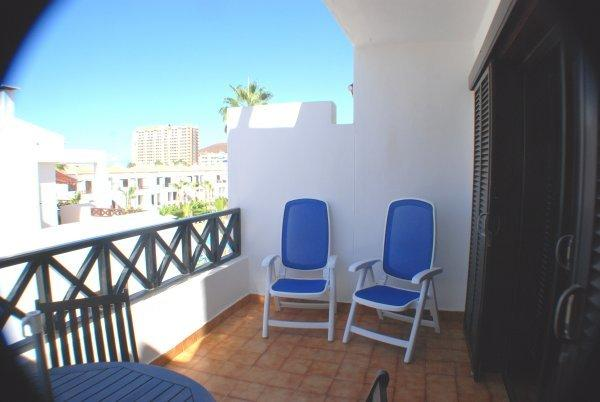 Relax on the balcony in reclining chairs.