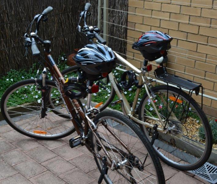 Twee goede kwaliteit fietsen met helmen en lichten zijn inbegrepen in uw boeking