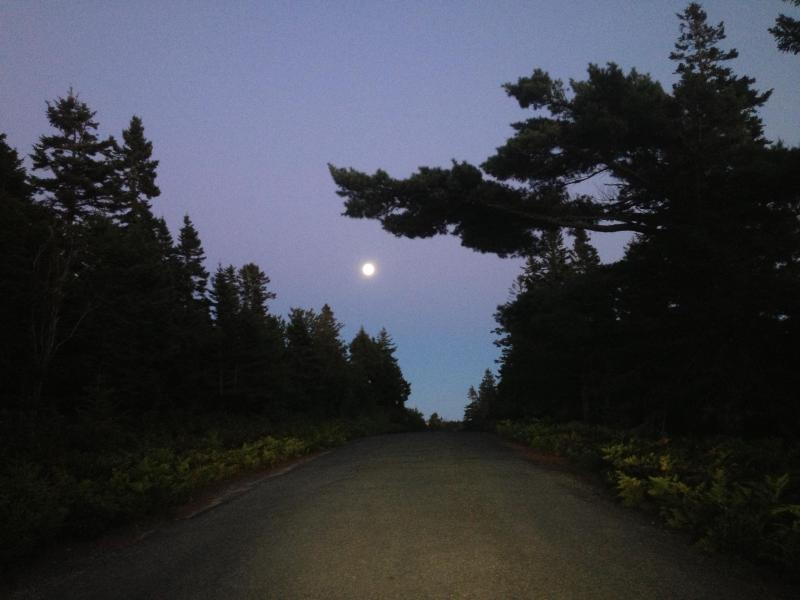 Moon Over Island Road