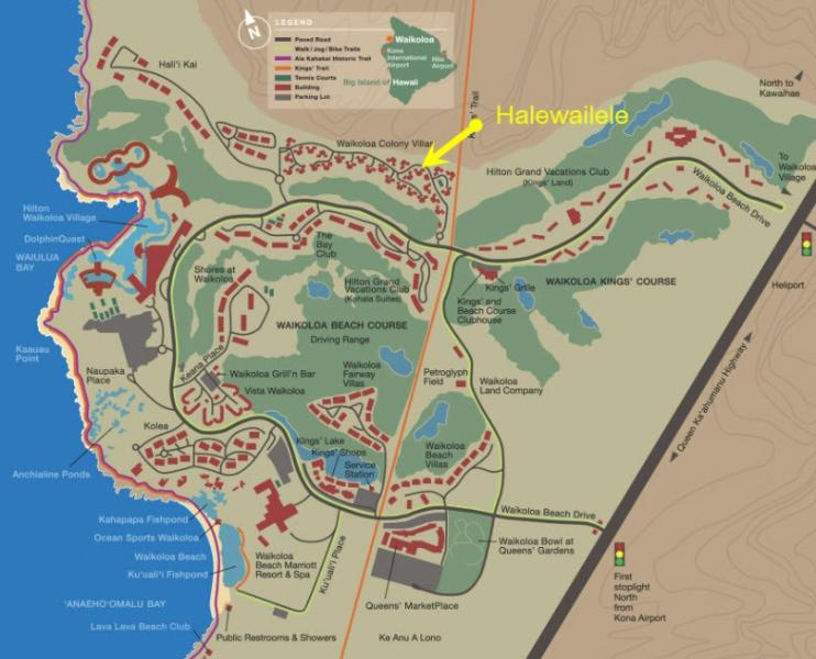 Our location in the Waikoloa Beach Resort