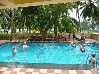 swimming pool in ganesh holiday home