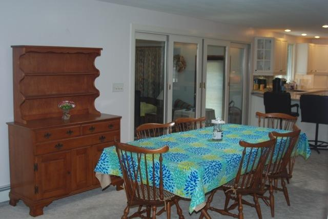 Spacious dining room leading to main deck
