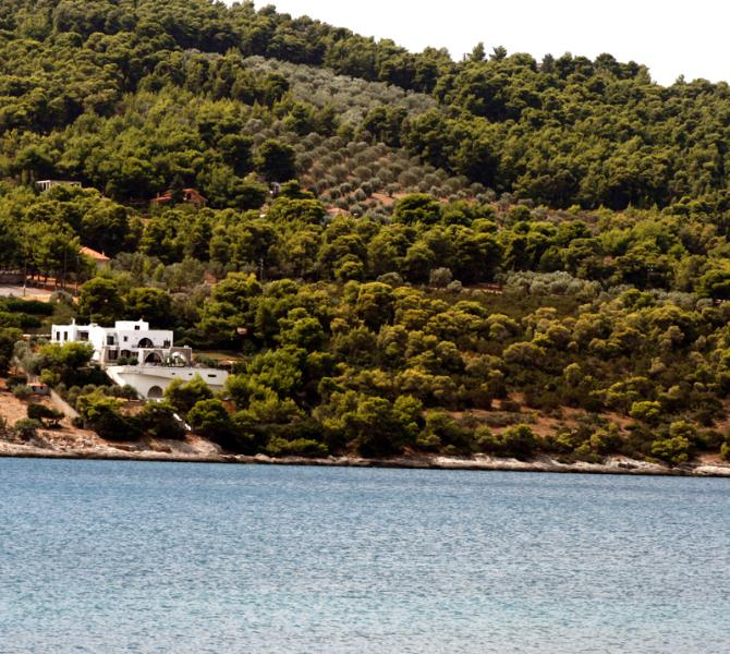 Seaside view of the house