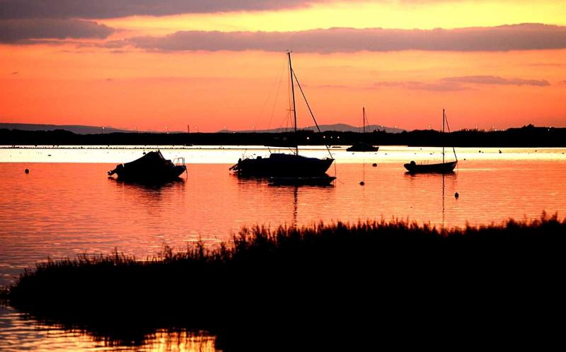 Sonnenuntergang in Mudeford