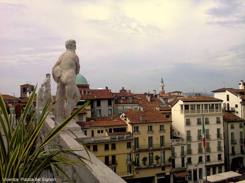 Vicenza: view from the terrace of the 'Basilica' by Andrea Palladio