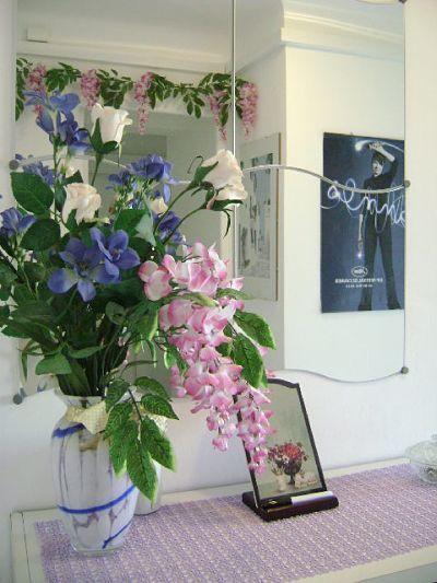 fleurs dans la maison