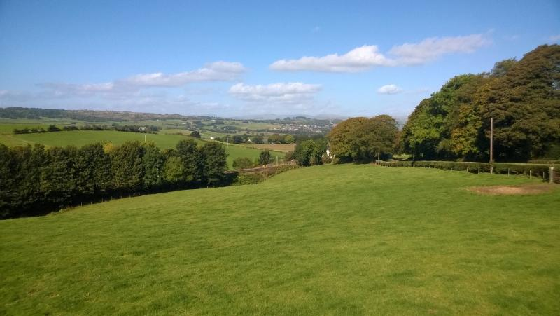 Stunning views towards Kendal and the Lake District