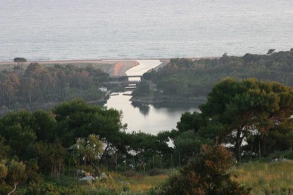 The canal between Lake Kaiafa and sea