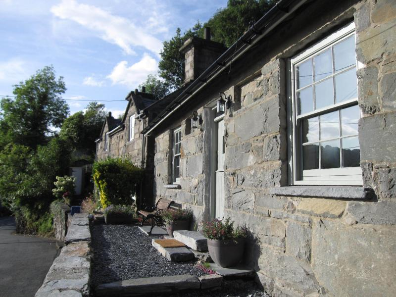 Dolydd Cottage Exterior with on-road parking directly in front