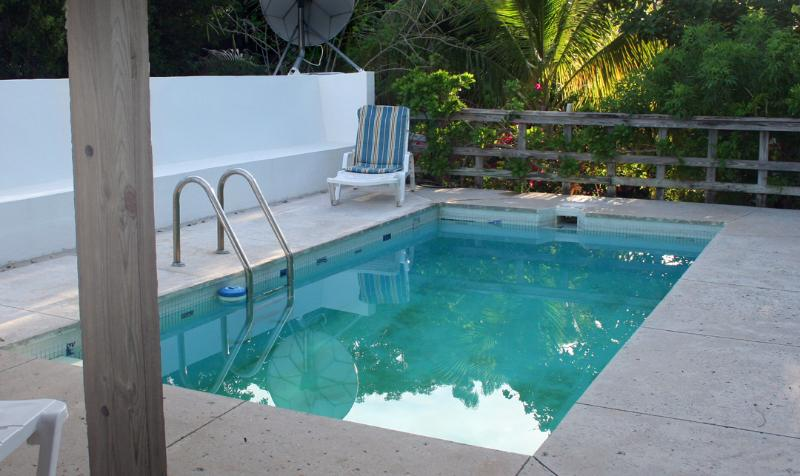 The salt system pool is shared with our sister (one family) rental. Just steps away from Greathouse!