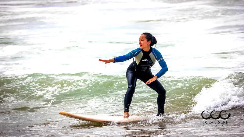 Surf Marokko - Erste Surf wellen