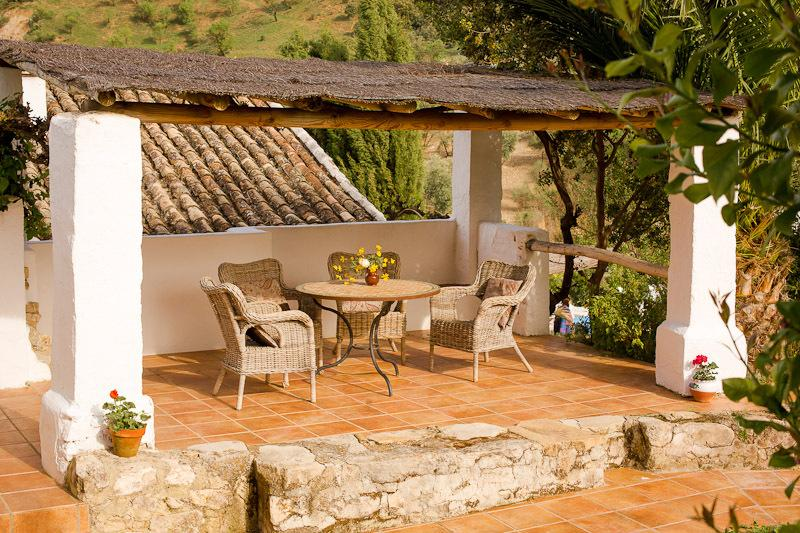 As well as large gardens, El Molino has several peaceful, shady terraces