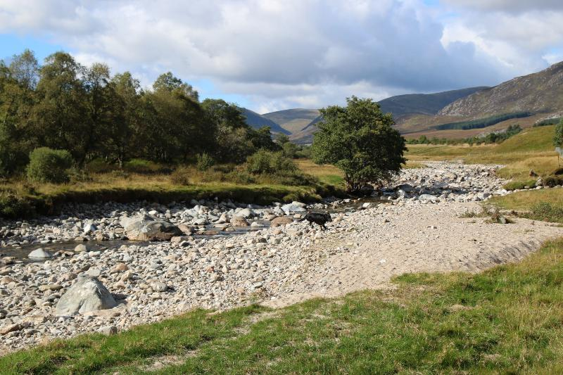 Looking through Glen Banchor. It is a lovely walk through the Glen to the Laggan Road