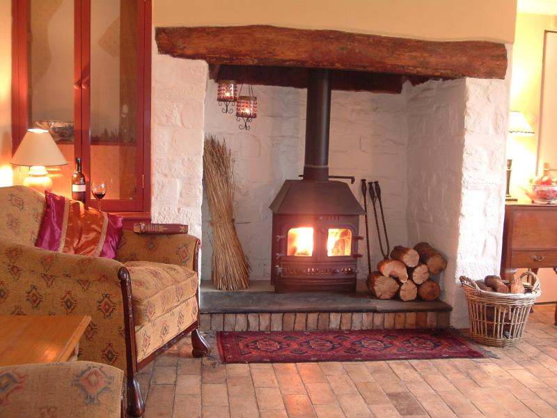 Cosy log burning stove - ideal after a long winter walk
