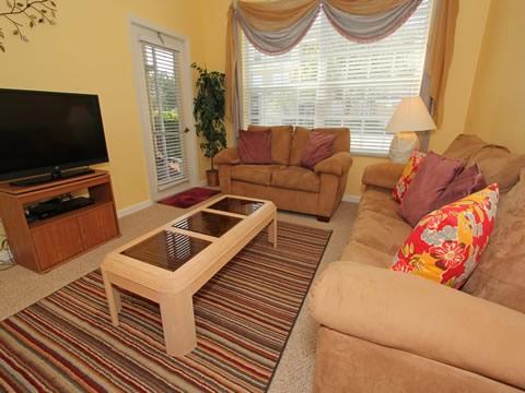 Sofá, muebles, pantalla, televisión, televisión