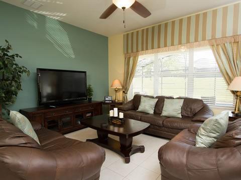 Pantalla, televisión, televisión, sofá, muebles