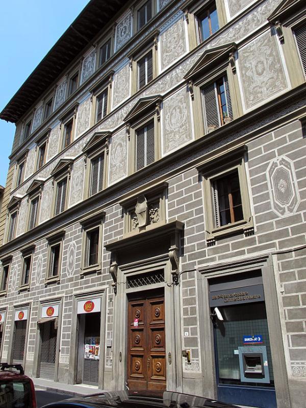 a fachada histórica do palazzo Corsini com o brasão de armas que sovrata que você vê acima entrada Windows