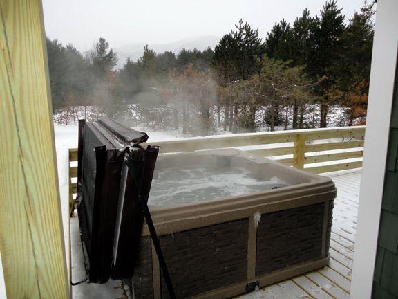 bañera de hidromasaje con vistas