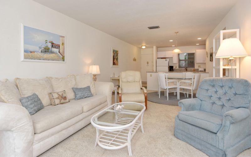Tastefully decorated with a beachy look and feel!