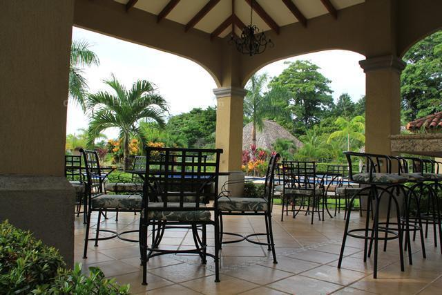 The Rancho BBQ area has tables, chairs and free wireless internet.
