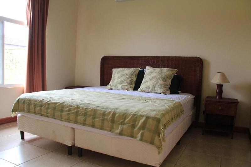 King size bed - master bedroom with full attached bathroom