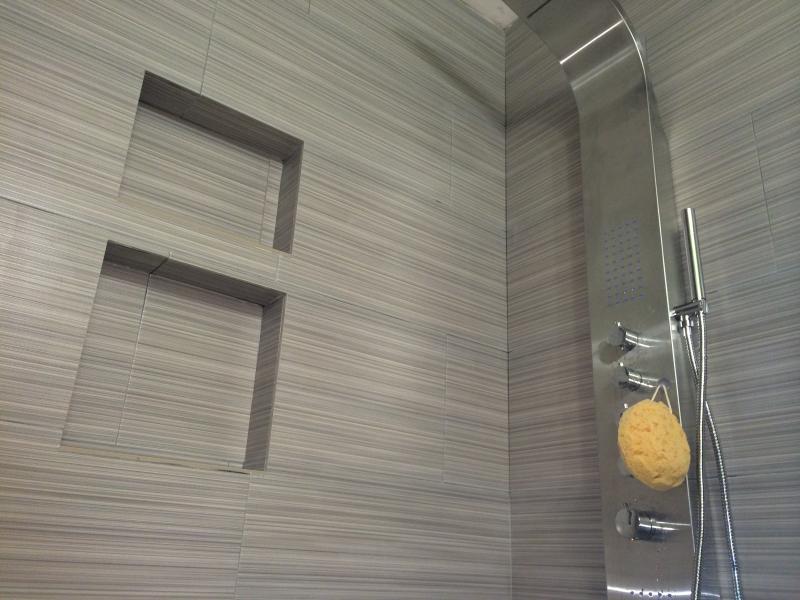 Waterfall shower, body massage jets, hand shower