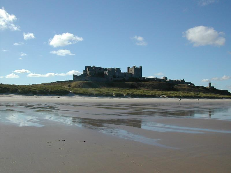 Beautiful Bamburgh Castle, one of many on the coast