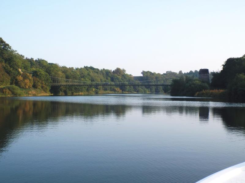 The Union Bridge, known as the 'Chain Bridge' locally. Visit the honey farm & enjoy riverside walks
