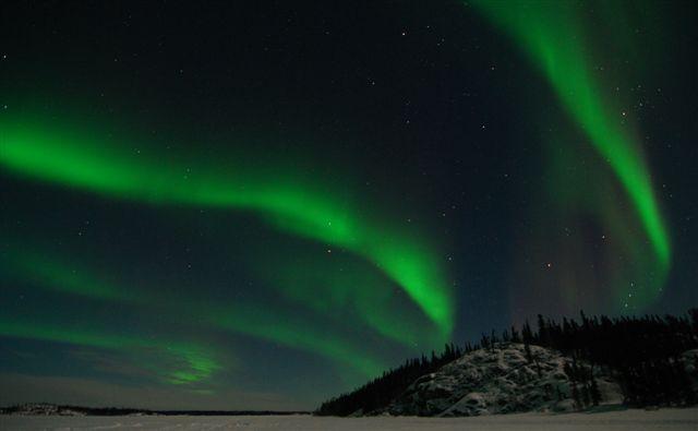 Northern lights over Prelude lake